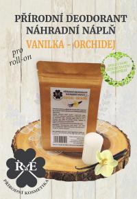 Náhradná náplň do prírodného deodorantu roll-on 22 g - Vanilka a orchidej