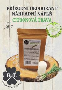 Náhradná náplň do prírodného deodorantu roll-on 22 g - Citrónová tráva