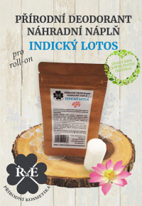 Náhradná náplň do prírodného deodorantu roll-on 22 g - Indický lotos