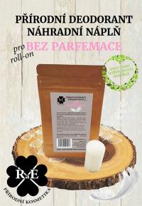 Náhradná náplň do prírodného deodorantu roll-on 22 g - Bez parfémov