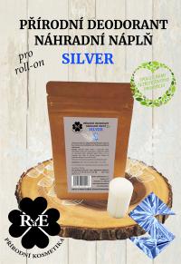 Náhradná náplň do prírodného deodorantu roll-on 22 g - Silver