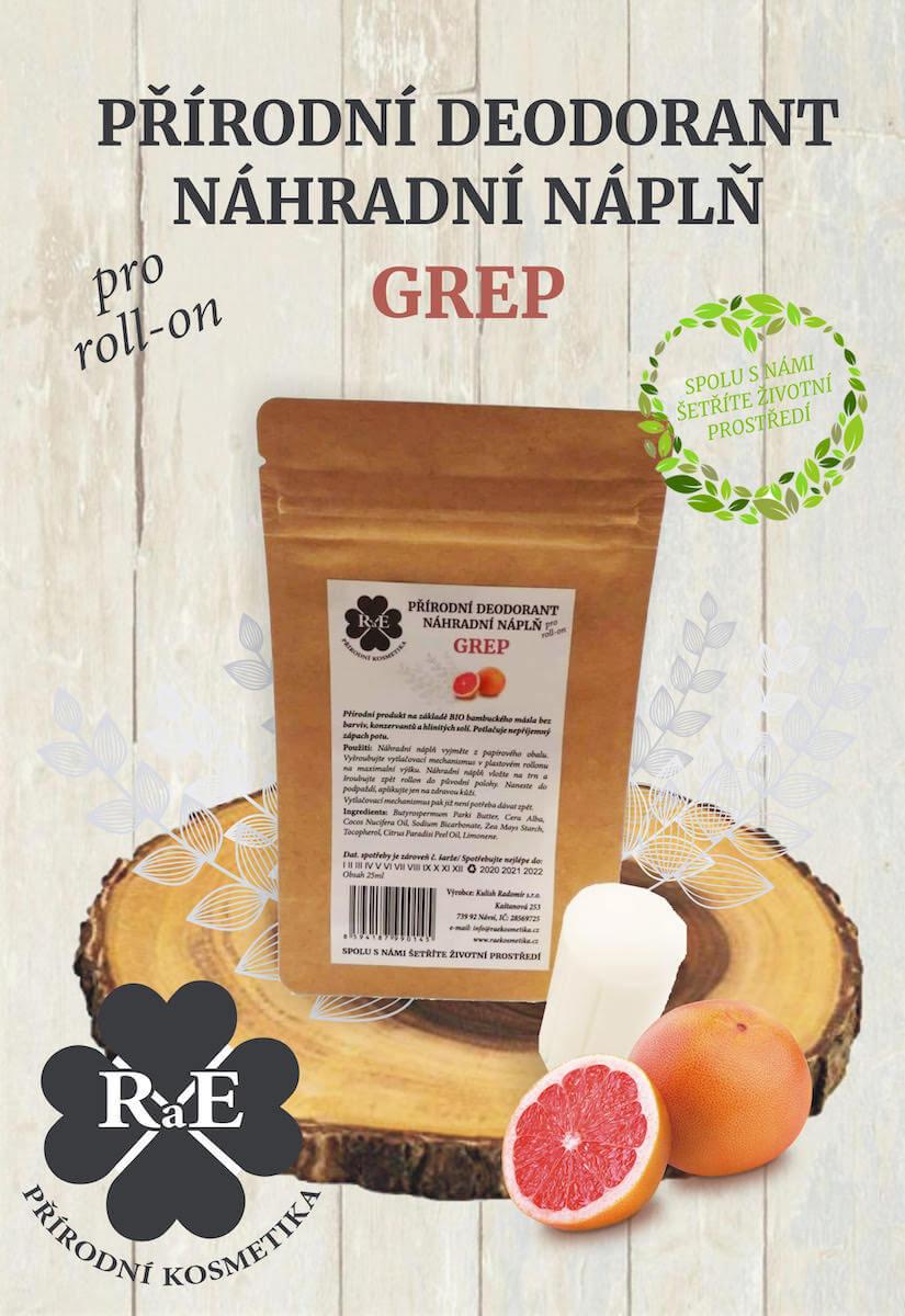 Náhradná náplň do prírodného deodorantu roll-on 22 g - Grep