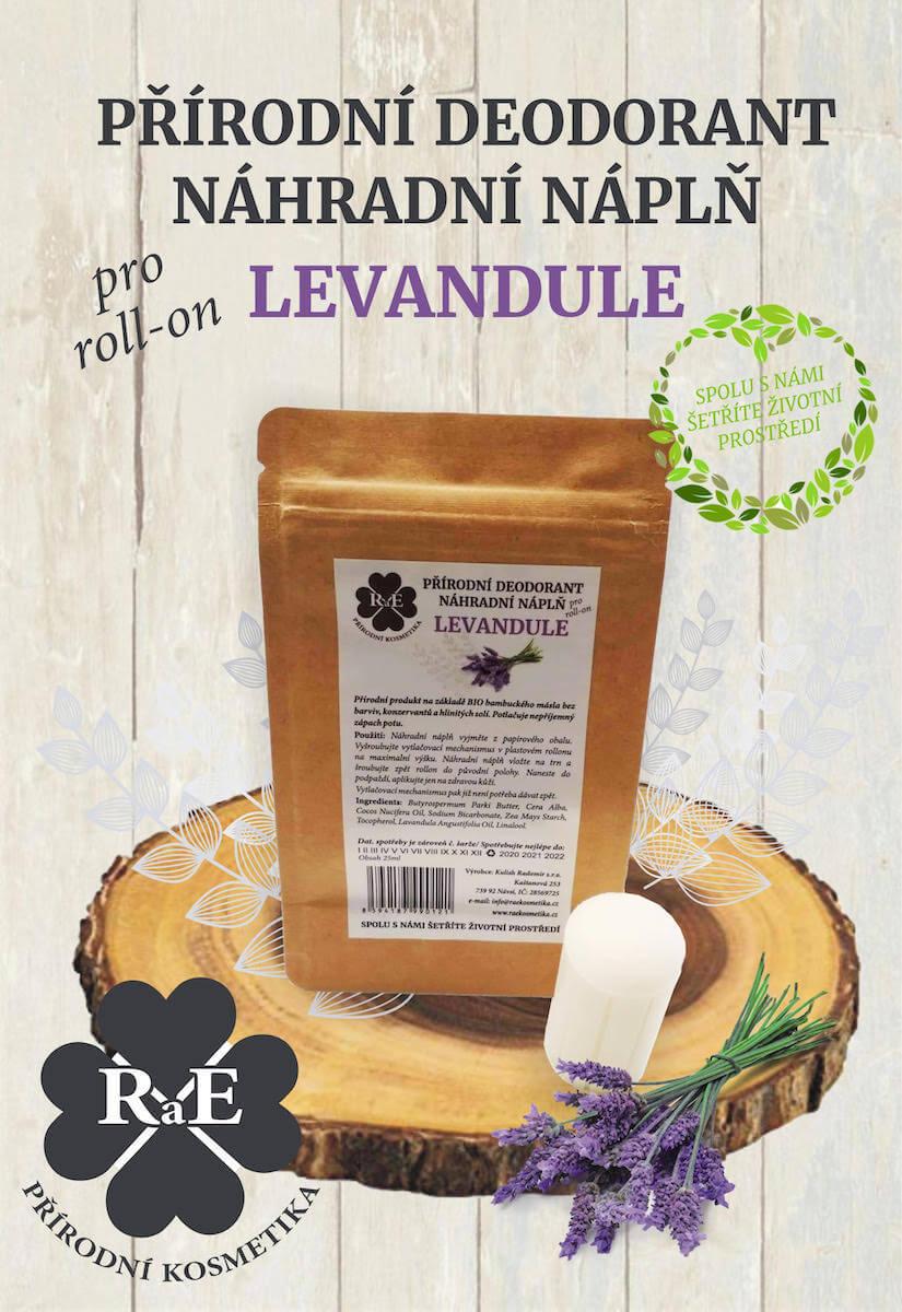 Náhradná náplň do prírodného deodorantu roll-on 22 g - Levanduľa