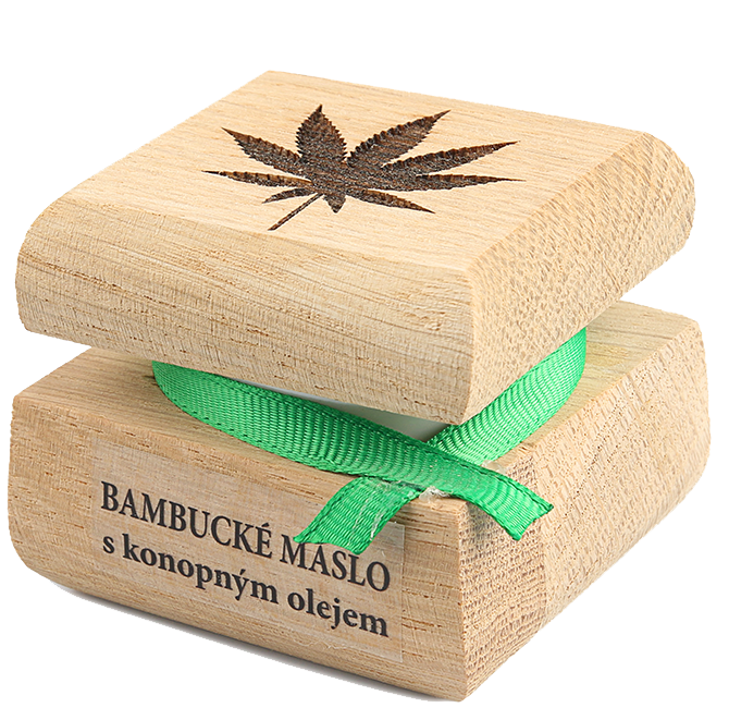 Bambucké telové maslo s konopným olejom 50 ml