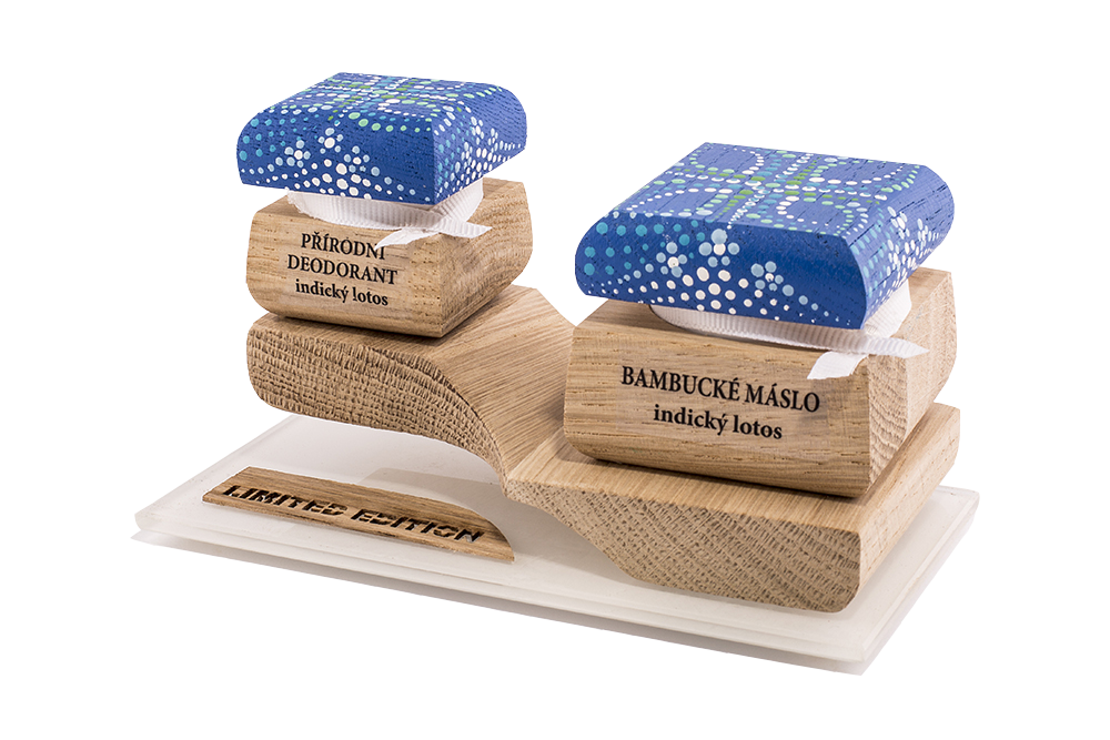 Farebná limitovaná edícia - Bambucké telové maslo 30 ml + Krémový dezodorant 15 ml - Indický lotos