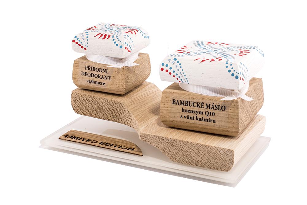 Farebná limitovaná edícia - Bambucké telové maslo 30 ml + Krémový dezodorant 15 ml - Kašmír a Q10 II.