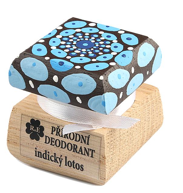 Prírodný krémový dezodorant Indický lotos s ručne maľovaným viečkom - mandala 15 ml