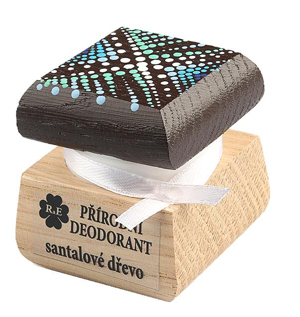 Prírodný krémový dezodorant Santalové drevo s ručne maľovaným viečkom 15 ml