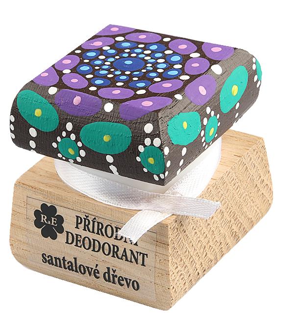 Prírodný krémový dezodorant Santalové drevo s ručne maľovaným viečkom - mandala 15 ml