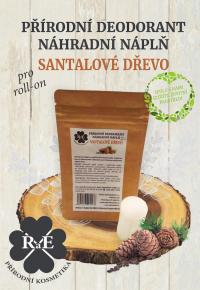 Náhradná náplň do prírodného deodorantu roll-on 22 g - Santalové drevo
