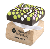 Prírodný krémový dezodorant s vôňou aloe vera a pridaným extraktom z aloe - mandala 15 ml