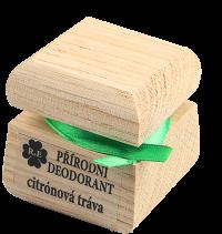 Prírodný krémový dezodorant s vôňou citrónovej trávy 15 ml