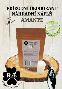 Náhradná náplň do prírodného deodorantu roll-on 22 g - Amante