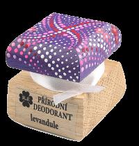 Prírodný krémový dezodorant Levanduľa s ručne maľovaným viečkom - fialová 15 ml
