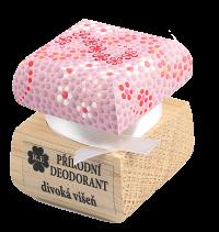 Prírodný krémový dezodorant Divoká višňa s ručne maľovaným viečkom - ružová 15 ml
