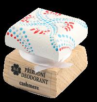 Prírodný krémový dezodorant Cashmere s ručne maľovaným viečkom - bielo-červená 15 ml