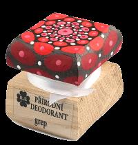 Prírodný krémový dezodorant Grep s ručne maľovaným viečkom - mandala 15 ml