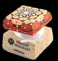 Prírodný krémový dezodorant Cashmere s ručne maľovaným viečkom - mandala 15 ml