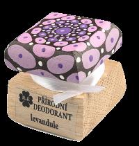 Prírodný krémový dezodorant Levanduľa s ručne maľovaným viečkom - mandala 15 ml