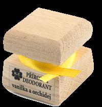 Prírodný krémový dezodorant s vôňou vanilky a orchidei 15 ml