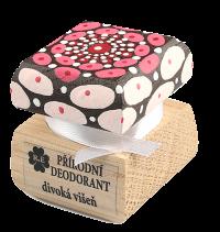 Prírodný krémový dezodorant Divoká višňa s ručne maľovaným viečkom - mandala 15 ml