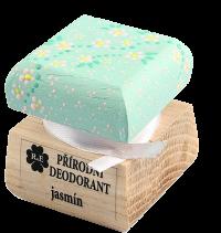 Prírodný krémový dezodorant Jazmín s ručne maľovaným viečkom 15 ml