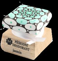 Prírodný krémový dezodorant Jazmín s ručne maľovaným viečkom - mandala 15 ml