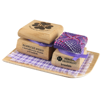 Bambucké telové maslo 50 ml + Krémový dezodorant Color 15 ml - Levanduľa