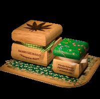 Bambucké telové maslo Konope 50 ml + Krémový dezodorant Color 15 ml - Citrónová tráva