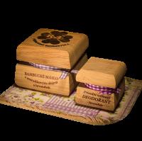 Bambucké telové maslo 50 ml + Krémový dezodorant Nature 15 ml - Levanduľa